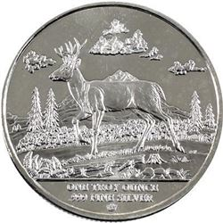 Pacific North West Deer .999 Fine Silver Coin.