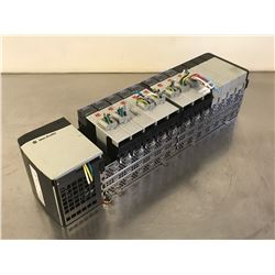 ALLEN BRADLEY 1756-A13/B 13 SLOT CHASSIS W/ POWER SUPPLY & DEVICE NET MODULES