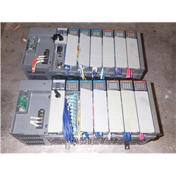 (2) ALLEN BRADLEY Racks w/ Modules