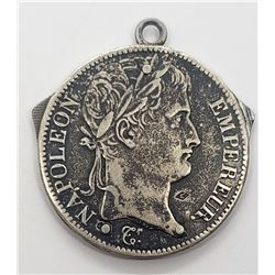 1812 FRANCE 5 FRANCS SILVER COIN PENDANT