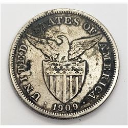 1909 S UNITED STATES of AM FILIPINAS ONE PESO