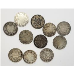 11-EARLY DATE CANADA SILVER QTRS