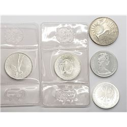 5-FOREIGN SILVER COINS - INTERESTING LOT