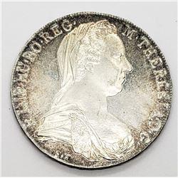 1780 AUSTRIA M THERESA 28gram SILVER RESTRIKE