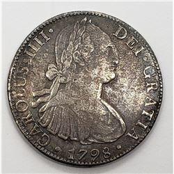 1798 8 REALES MEXICO SILVER COIN
