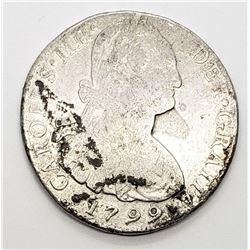 1799 8 REALES MEXICO SILVER COIN