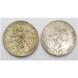 2-1968 MEXICO SILVER 25 PESOS
