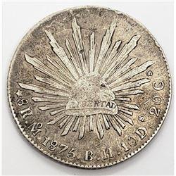 1875 MEXICO LIBERTAD 8 REALES