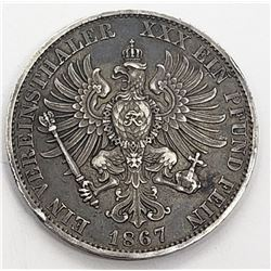 Great Old GERMAN STATES PRUSSIA WILHELM 1867