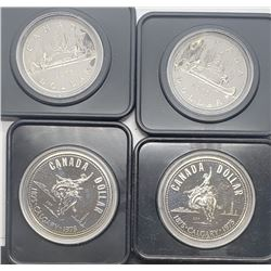 2-1975 SILVER PROOF & 2-1976 UNC CLAD
