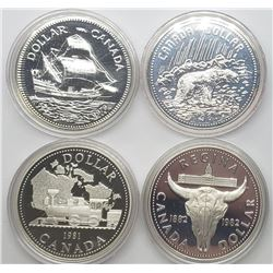 1979-1982 SILVER PROOF CANADA DOLLARS