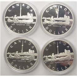 4-1984 CANADA SILVER PROOF DOLLARS