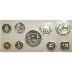 1970 Bahama Islands 9 Coin Proof Set