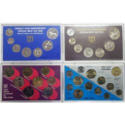 1979, 1980, 1985, 1987 ISRAEL'S MINT SETS