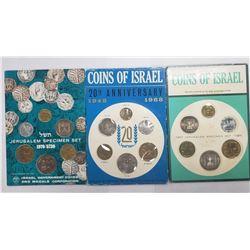 1967, 1968, 1970 ISRAIL'S MINT SETS
