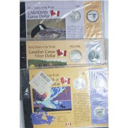 3-CANADA SILVER DOLLARS