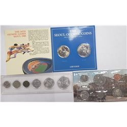 3-BU FOREIGN COIN SETS