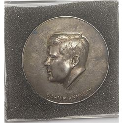 Silver John F Kennedy memorial medal