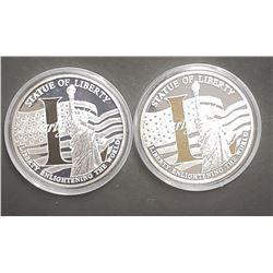 "2-2010 LIBERTY  ""L"" COINS w/SPOT GOLD"