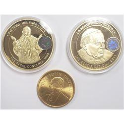 2010 & 2011 LIFE of POPE JOHN PAUL II COINS