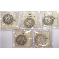 5-Republic of Liberia AMERICA AT WAR Coins