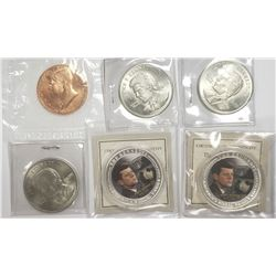 KENNEDY COMMEM COIN LOT (6)
