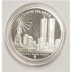 """2008 Cook Islands $1, """"We Will Never Forget"""""""