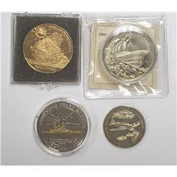 3-PEARL HARBOR COMMEM COINS