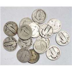 15-STANDING LIBERTY QUARTERS
