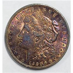 """1921 """"RAINBOW"""" MORGAN DOLLAR"""