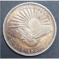 EAGLE/RAYS 1ozt .999 SILVER ROUND