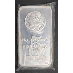 Made in USA .999 SILVER 5 ozt BAR