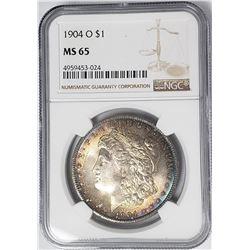 1904-O Morgan Silver Dollar $ NGC MS 65 Beautifull