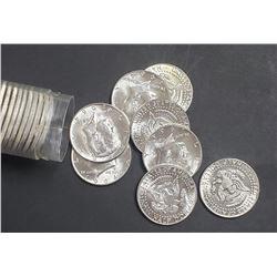 1964 AU/BU KENNEDY HALF DOLLAR ROLL