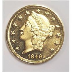 American Mint 1849 $20 Gold Liberty