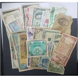 25pc FOREIGN CURRENCY LOT