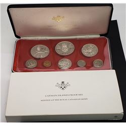 CAYMAN ISLANDS 1972 8 COIN PROOF SET WITH SILVER C
