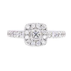 EXCELLENT 1.23ct VS1 G Color Diamond Platinum Ring