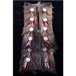 Lakota Ihoka Badger Society Wolf Mirror Sash 1800-