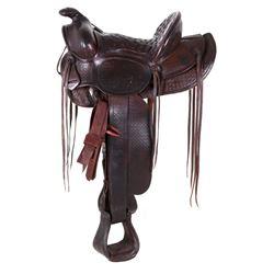 1937 Gillette Round Up Newberry Alliance Saddle