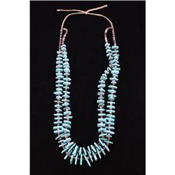 Navajo Cripple Creek Turquoise & Heishi Necklace