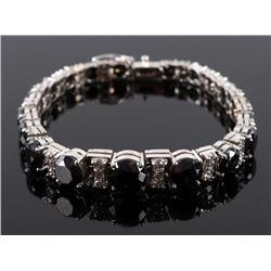 Rare Black Diamond & White Diamond 14K Bracelet