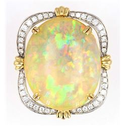 Australian Lightning Ridge 24.46ct Opal 14K Ring