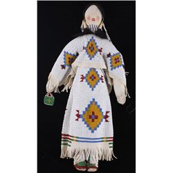 Sioux Mary Standstall Fully Beaded Hide Doll LARGE