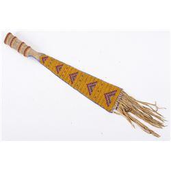 Lakota Sioux Fully Beaded Tomahawk Drop c. 1890