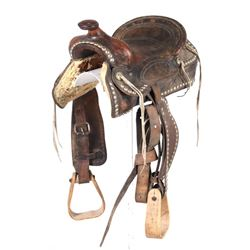 """Texas Tanning MFG Co. Brahma Leather Saddle 12"""""""
