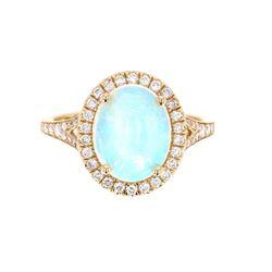 Ethiopian Opal & Diamond 14K Gold Ring