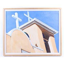 B. Vanlandingham Church at Rancho De Taos Painting
