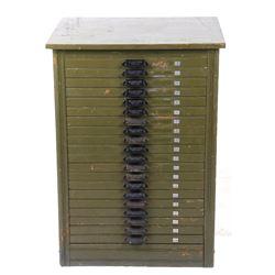 Hamilton MFG Co. Green Printers Cabinet