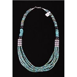 Navajo Tommy Singer Turquoise Large Necklace